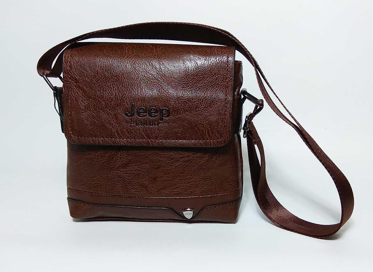 3b5897104943 Мужская сумка через плечо в стиле Jeep коричневая кожа pu купить в ...