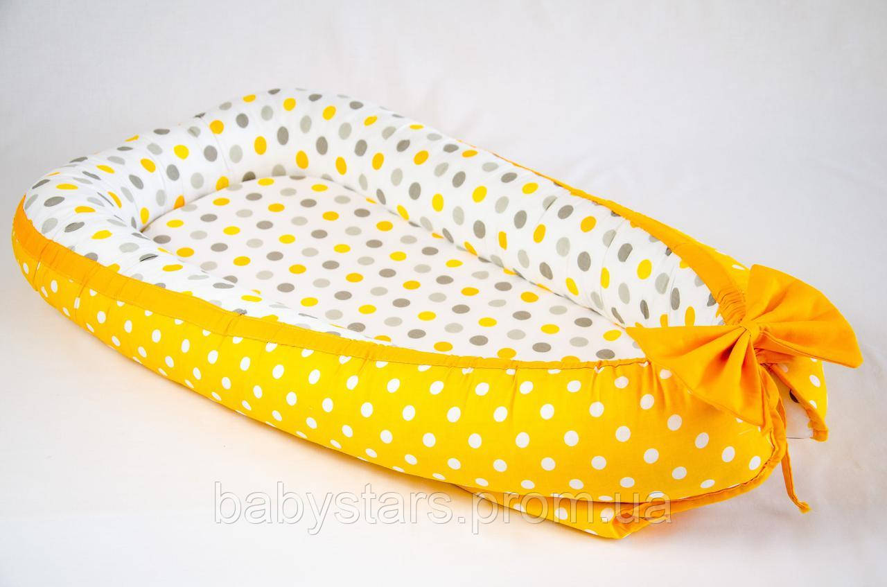 "Коконы babynest с непромокаемым матрасом 50х80см, ""Мое солнышко"" цвет желтый"