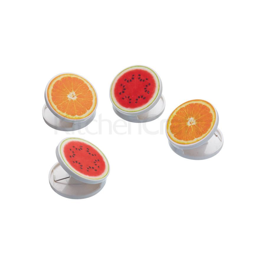 KC Набор зажимов-магнитов Ассорти из фруктов 4 шт.