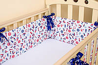 """Бортики на кровать для новорожденных """"Морячок"""" 360см х 27см + простынь на резинке 60см х 120см, фото 1"""