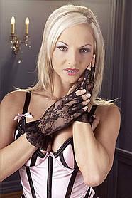 Перчатки кружевные (чёрные)
