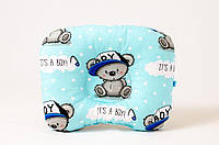"""Анатомическая подушка для новорожденного 22х26 см, """"Мишутка в кепке"""", фото 1"""