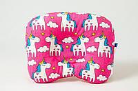 """Подушка для новорожденных 22х26 см, """"Розовые пони"""""""