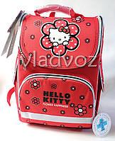 Школьный каркасный рюкзак для девочек Hello Kitty красный Kite