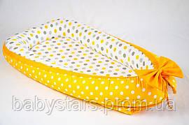 """Гнездышко для новорожденных 50х80см, """"Мое солнышко"""" цвет желтый"""