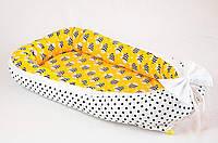 """Кокон гнездышко для новорожденных с непромокаемым матрасом 50Х80см, """"Веселые пчелки"""", фото 1"""