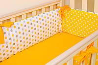 "Подушки бортики в кроватку 360см х 27см, ""Солнышко"", фото 1"