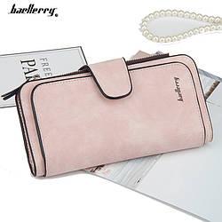 Женский кошелек в стиле Baellerry Forever нежно-розовый замша PU