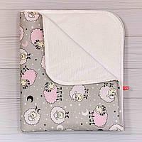 Пеленка непромокаемая (размер 70х80 см), Розовые барашки