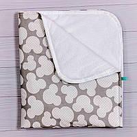 Непромокаемые пеленки многоразовые для детей (размер 70х80 см), Серый Мики