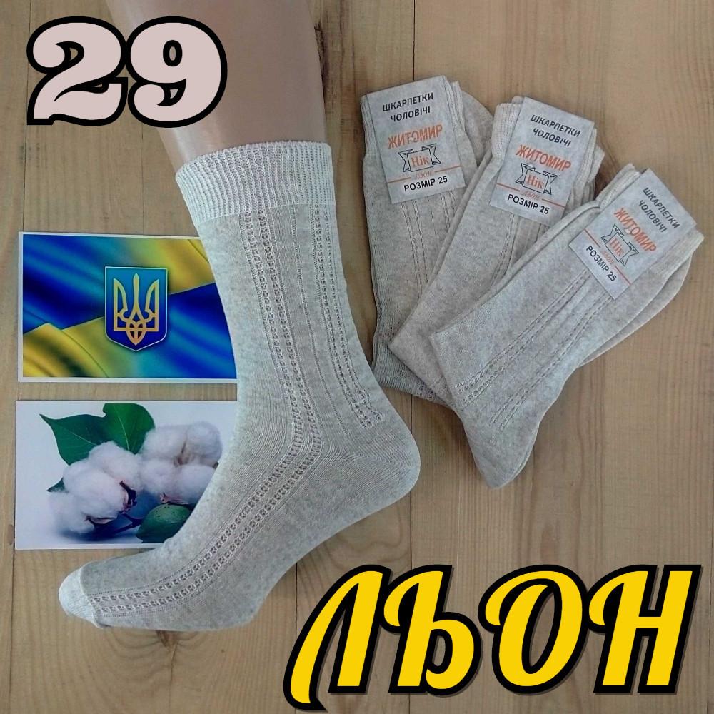5182ba3cc8c2f Мужские носки летние с сеткой сбоку Житомир 100% льон 29 размер НМЛ-06387