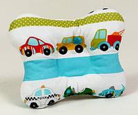"""Анатомическая подушка для новорожденных 22х26 см, """"Машинки размер"""""""