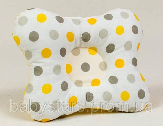 Подушка бабочка для новорожденных размер 22х26 см