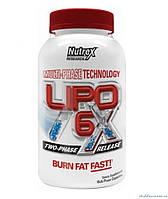 Nutrex Research Lipo 6x (Липо 6 Х) 120 капсул Многокомпонентный жиросжигатель
