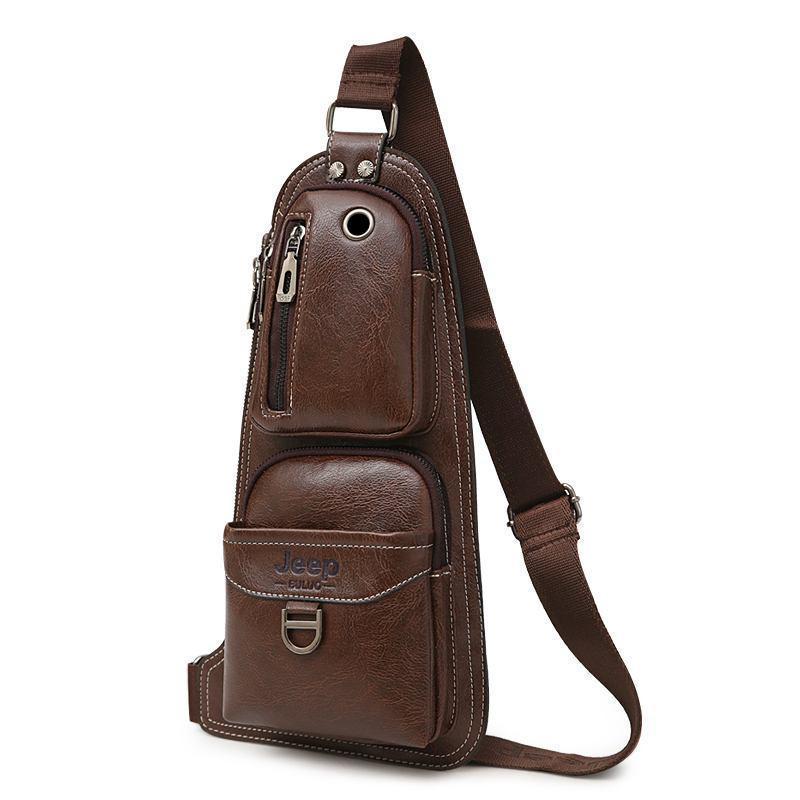 Сумка-рюкзак на одно плечо, кобура, слинг Jeep 1941. Темно-коричневая / J1941 DB Vsem