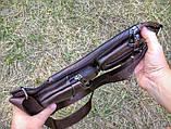Сумка-рюкзак на одно плечо, кобура, слинг Jeep 1941. Темно-коричневая / J1941 DB Vsem, фото 8