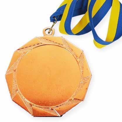 Медаль спорт Д-83 Ø70мм бронза / 3 місце