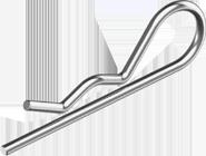 Шплинт пружинный, игольчатый, стальной (ЦБ) DIN 11024