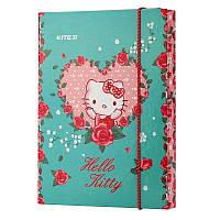 Папка для тетрадей на резинках Kite Hello Kitty HK19-210, картон