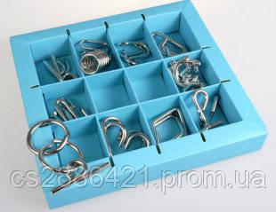 Набор головоломок 10 Metall Puzzles blue 10 головоломок Eureka 3D Puzzle 473356