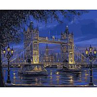 Картина по номерам Тауэрский мост. Худ. Роберт Файнэл, 50x65 см., Babylon