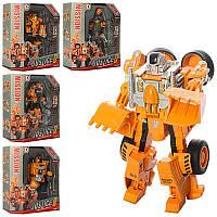 Металлический Робот-трансформер Justice Hero SY6078B робот+машинка 5 видов, в коробке