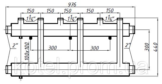 Размеры коллектора СК 353.150