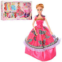 Кукла типа барби 29 см шарнирнаяс нарядамииаксессуарами, платья, коляска, собачка,919A2