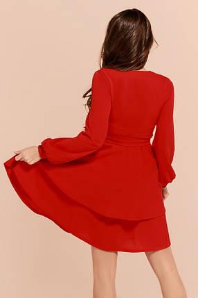 4c39f2efdf8 Красное платье с двойной юбкой  Цена