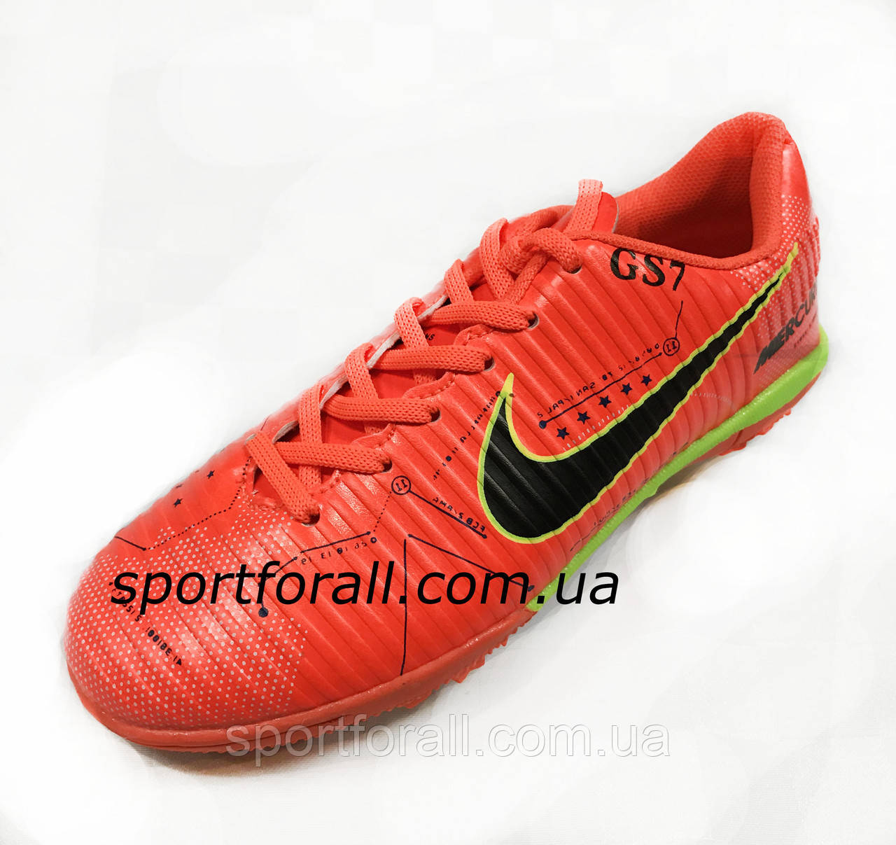 Сороконожки Nike MERCURIAL X GS7 Р 31оранжевые( РАСПРОДАЖА)