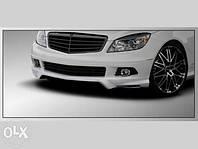 Реснички (накладки на фары) Mercedes W204