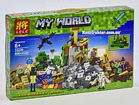 "Конструктор Lele 33230 Майнкрафт ""Падение башни"" аналог Lego Minecraft, 600 деталей., фото 1"