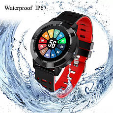 Розумні годинник SENBONO CF58 Black фітнес браслет, фото 2
