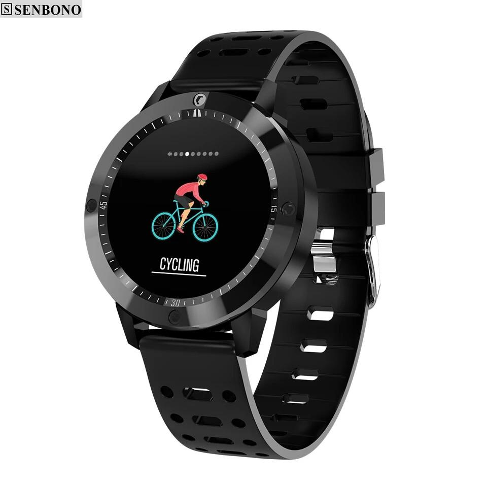 Розумні годинник SENBONO CF58 Black фітнес браслет