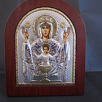Икона Спаситель Серебряная с позолотой Silver Axion (Греция)