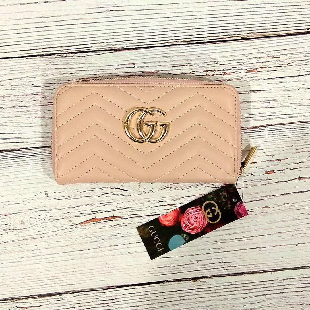 Стильный женский кошелек клатч в стиле Gucci гучи пудра кожа PU ... 62bdbf10db638