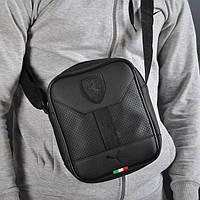 ddfb07aade14 Стильная сумка через плечо барсетка в стиле Puma Ferrari пума ферари черная