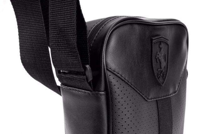 50f4b1c56f0e ... Стильная сумка через плечо барсетка в стиле Puma Ferrari пума ферари  черная, ...