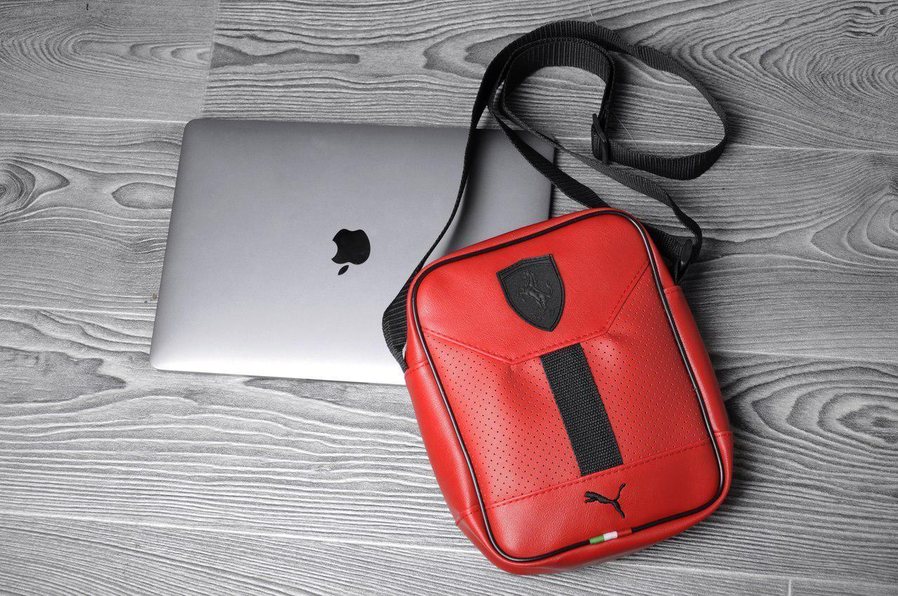 f8590af5abb6 ... Стильная сумка через плечо барсетка в стиле Puma Ferrari пума ферари  красная, ...