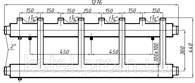 Размеры коллектора СК 453.150