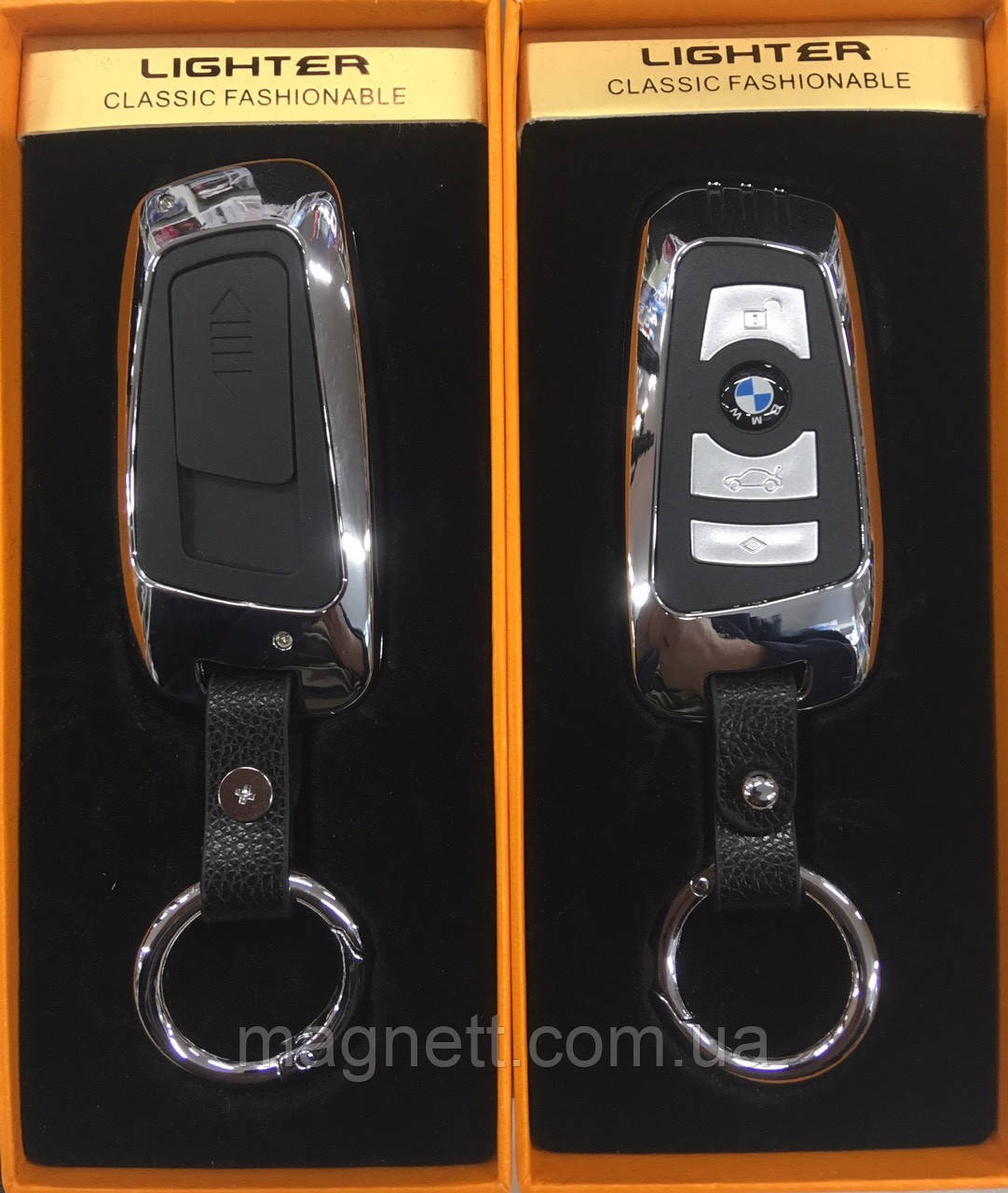 Брелок-запальничка Usb Автоключ BMW в подарунковій коробці