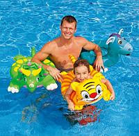 Красочный надувной круг подойдет детям от 3 до 6 лет Intex 58221 IKD