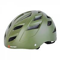 Защитный шлем Tempish Marilla зеленый для роллеров и скейтеров / с регулируемым ремешком