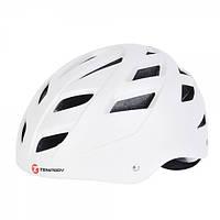 Защитный шлем Tempish Marilla белый для роллеров и скейтеров / с регулируемым ремешком