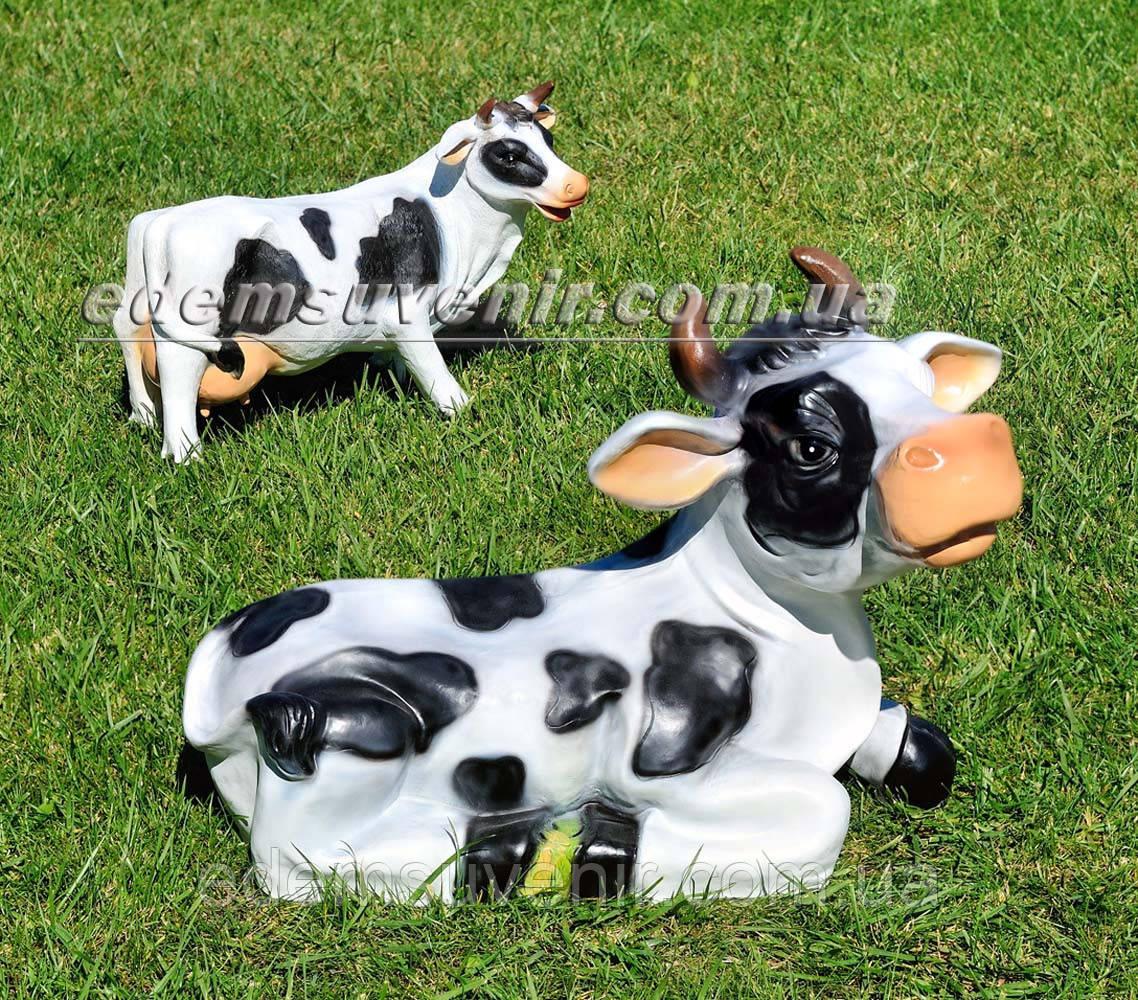 Садовая фигура Корова Буренка и Зорька большая