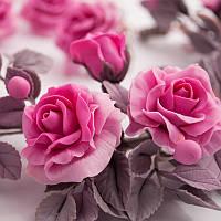 """Комплект, набор украшений: (колье-ожерелье, серьги, кольцо) """"Пепел розы"""". Бижутерия ручной работы."""