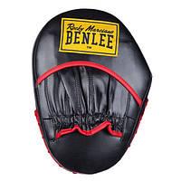 Лапы тренерские прямые для бокса BENLEE RUSSIAN (blk-red)