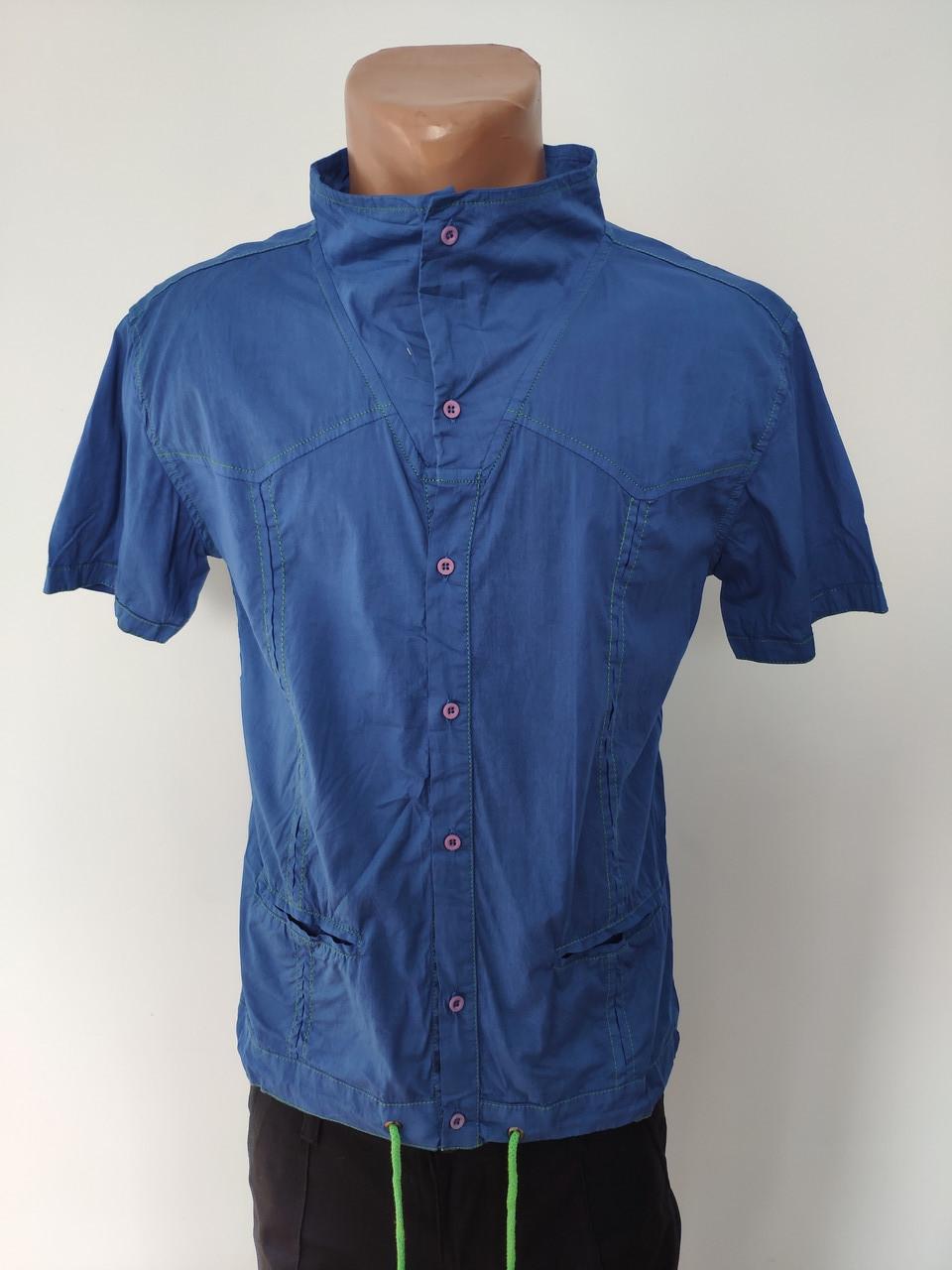 Рубашка мужская летняя коттоновая стрейчевая брендовая высокого качества WEAWER, Турция