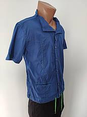 Рубашка мужская летняя коттоновая стрейчевая брендовая высокого качества WEAWER, Турция, фото 2
