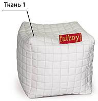 Кубик-Пуфик Белый/Черный тм Matroluxe 50х50х50 см